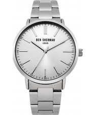 Ben Sherman WB061SM Mens Silver Tone Steel Bracelet Watch