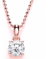 Purity 925 PUR3580P Ladies Rose Gold Plated Necklace With Swarovski Crystals