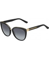 Jimmy Choo Ladies Dana-S 10E HD Black Sunglasses