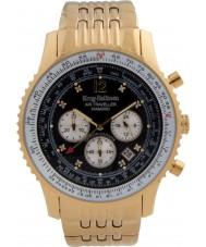 Krug Baümen 600103DS Mens Air Traveller Diamond Watch