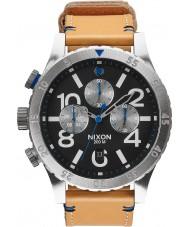 Nixon A363-1602 Mens 48-20 Tan Leather Strap Chronograph Watch