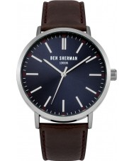 Ben Sherman WB061UBR Mens Brown Leather Strap Watch