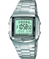 Casio DB-360N-1AEF Mens Collection Silver Steel Bracelet Watch with Telememo