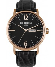 Ben Sherman WB046BRG Mens Big Portobello Professional Black Leather Strap Watch