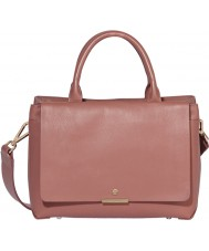 Modalu MH5117-PINK Ladies Bess Mauve Pink Leather Zip Mini Tote Bag
