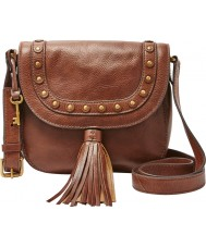 Fossil ZB6850210 Ladies Emi Medium Brown Saddle Cross Body Bag