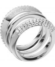 Emporio Armani Ladies Stelle Silver Ring