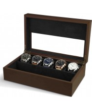 AVI-8 AV-CBOX-01 Mens AVI-8 Brown Collector Box with 5 Watch Compartments