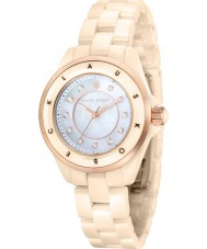 Klaus Kobec KK-10004-04 Ladies Luna Rose Gold and Beige Ceramic Watch