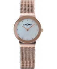 Skagen 358SRRD Ladies Klassik White Rose Gold Mesh Watch