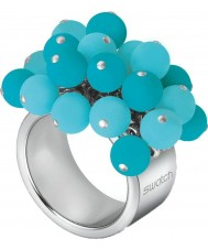 Swatch JRL003-5 Ladies Love Explosion Turquoise Ring - Size J.5