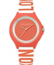 Daisy Dixon DD040O Ladies Daisy Coral and White Silicone Watch