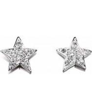 Charles Conrad E4078C Ladies Clear CZ Star Earrings