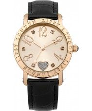 Lipsy LP113 Ladies Rose Gold and Black Watch