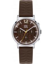 Orla Kiely OK2001 Ladies Frankie Chronograph Dark Brown Leather Strap Watch