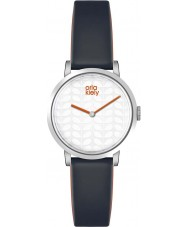 Orla Kiely OK2049 Ladies Luna Black Leather Strap Watch