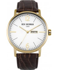 Ben Sherman WB046TG Mens Big Portobello Professional Brown Leather Strap Watch