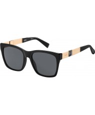 MaxMara Ladies MM Stone I YA2 IR Black Gold Sunglasses