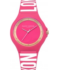 Daisy Dixon DD040P Ladies Daisy Pink and White Silicone Strap Watch