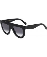 Celine Ladies CL 41398-S 807 W2 Black Sunglasses