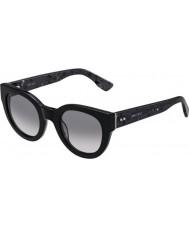 Jimmy Choo Ladies Eda-S J3L EU Black Spotted Sunglasses