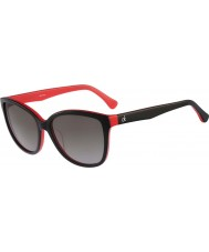 Calvin Klein Platinum Ladies CK4258S Black Red Sunglasses
