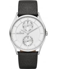 Skagen SKW6065 Mens Holst Black Leather Strap Watch