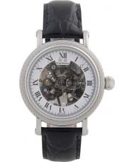 Krug Baümen 60112DM Mens Prestige Black Leather Strap Watch
