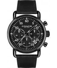 Coach 14602107 Mens Delancey Black Leather Strap Watch