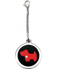 I Puppies PF-002-R Dog Steel and Red Tag For Collar Medallion