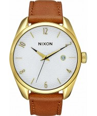 Nixon A473-1425 Ladies Bullet Leather Gold Saddle Watch