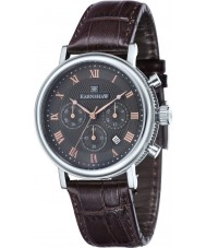 Thomas Earnshaw ES-8051-01 Mens Beaufort Brown Leather Strap Chronograph Watch