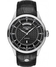 Roamer 508293-41-55-05 Mens Superior Day Black Leather Strap Watch