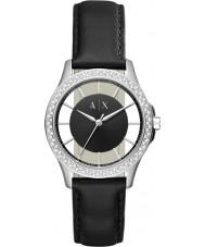 Armani Exchange AX5253 Ladies Dress Black Leather Strap Watch