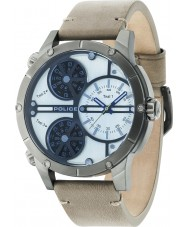 Police 14699JSU-07 Mens Rattlesnake Beige Leather Strap Watch