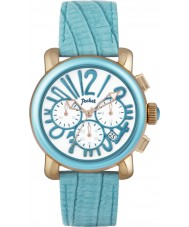 Pocket PK2054 Ladies Rond Chrono Medio Turquoise Watch