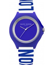 Daisy Dixon DD040U Ladies Daisy Blue and White Silicone Strap Watch