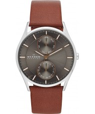 Skagen SKW6086 Mens Holst Brown Leather Strap Watch