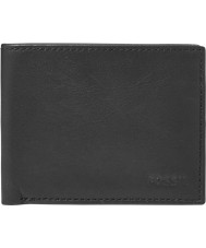 Fossil ML3447001 Mens Ingram Black Bifold With ID Wallet