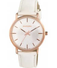 Kahuna KLS-0324L Ladies White PU Strap Watch