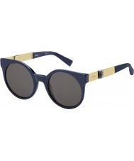 MaxMara Ladies MM Stone II PAZ NR Blue Matte Gold Sunglasses