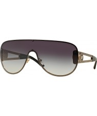 Versace VE2166-41 Rock Icons Pale Gold 12528G Grey Gradient Sunglasses