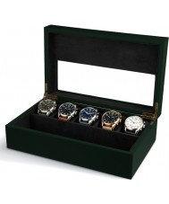 AVI-8 AV-CBOX-03 Box ONLY Mens AVI-8 Green Collector Box with 5 Watch Compartments