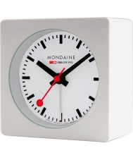 Mondaine A996-ALIG-10SBB White Alarm Cube Clock