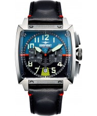 Dogfight DF0001 Mens Experten Black Leather Chronograph Watch