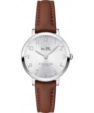 Coach 14502563 Ladies Ultra Slim Saddle Leather Strap Watch