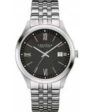 Caravelle New York 43B144 Mens Silver Steel Bracelet Watch