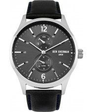 Ben Sherman WB047B Mens Spitalfields Vinyl Black Leather Strap Watch