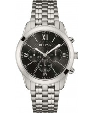 Bulova 96A175 Mens Silver Tone Chronograph Watch