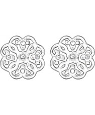 Thomas Sabo H1881-051-14 Ladies Filigree Arabesque Silver Stud Earrings
